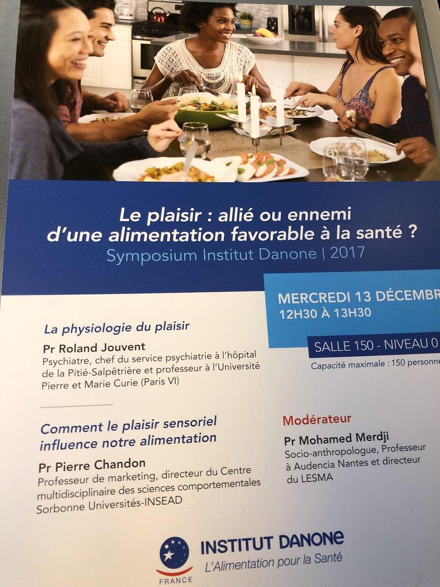 """""""Le plaisir : allié ou ennemi d'une alimentation favorable à la santé ?"""" en discussion au symposium de @institutdanone ce mercredi 13 décembre."""