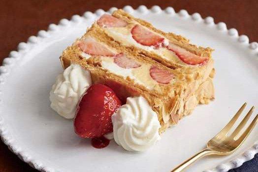 キハチにて苺のナポレオンパイ&苺づくしコースが登場 - 前菜からメイン、デザートまで苺を使用 - https://t.co/vjAR4B4YAg