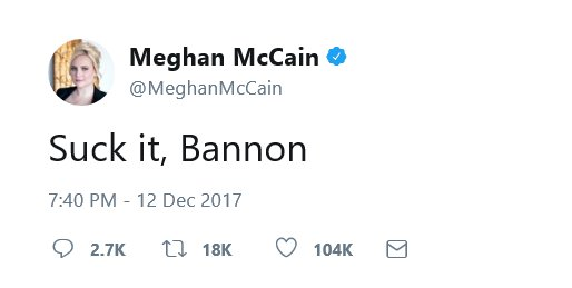 #Meghan McCain is a fat nasty slob and her treasonous Soris funded father should be under the prison !! pic.twitter.com/UKpvgxe4uD