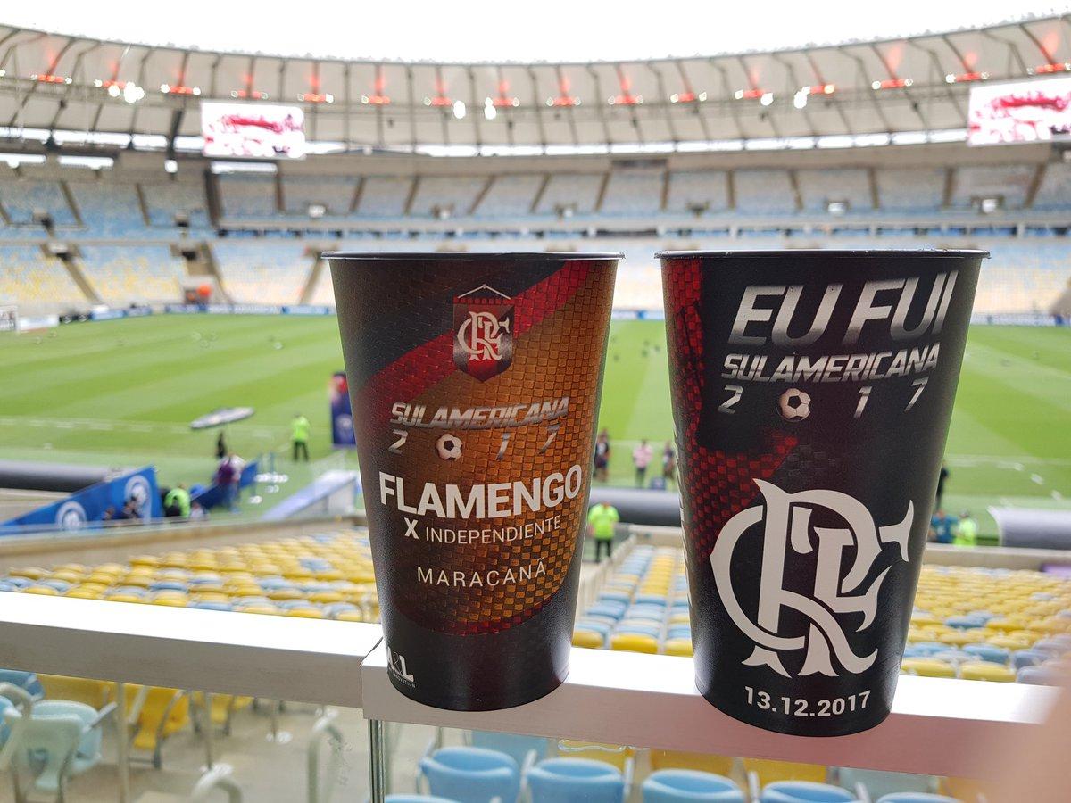 Hoje é em dose dupla. Não deixe de adquirir seus copos especiais da final nos bares, quiosques e revendedores oficiais espalhados no Maracanã. #FLAxIND