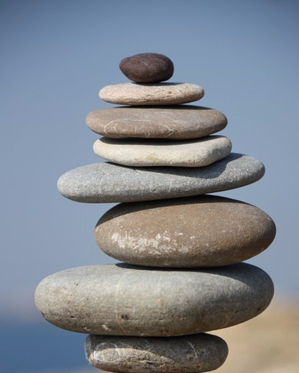 Image result for pebble balancing with furniture