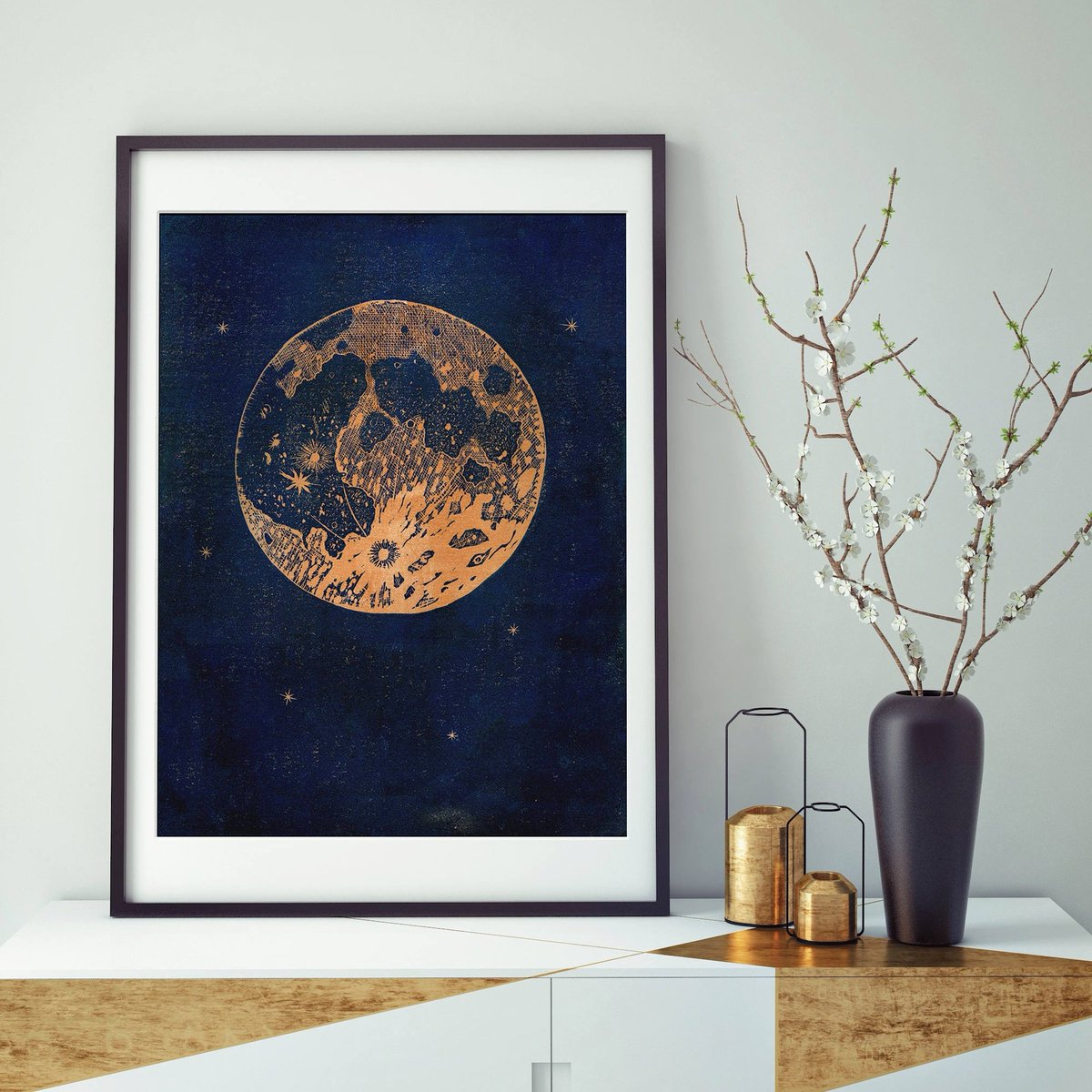 This copper moon linocut print has been so popular that I only have 2 left to go to new homes before Christmas! I&#39;ll be printing the rest of the edition soon, but the ink takes 3 months to dry! #handmadehour #crafthour #handmadechristmas <br>http://pic.twitter.com/Sev3kV8Ju3