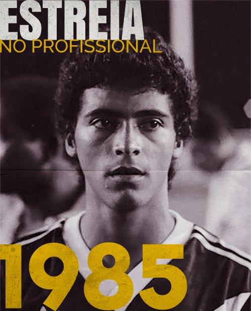 Há 33 anos, eu estreava no futebol profissional, vestindo a camisa do Vasco, contra o Coritiba. Tinha 19 anos e o técnico Edu Antunes Coimbra me colocou em campos aos 13 minutos do segundo tempo. Não marquei nenhum gol aquele dia, mas fiz mais de 300 gols pelo Clube.