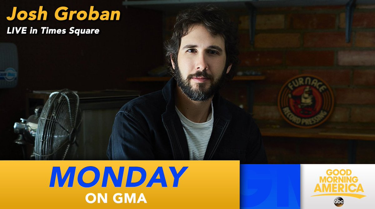 NEXT MONDAY ON @GMA: Get ready to deck the halls of Times Square! @joshgroban performs LIVE in studio!