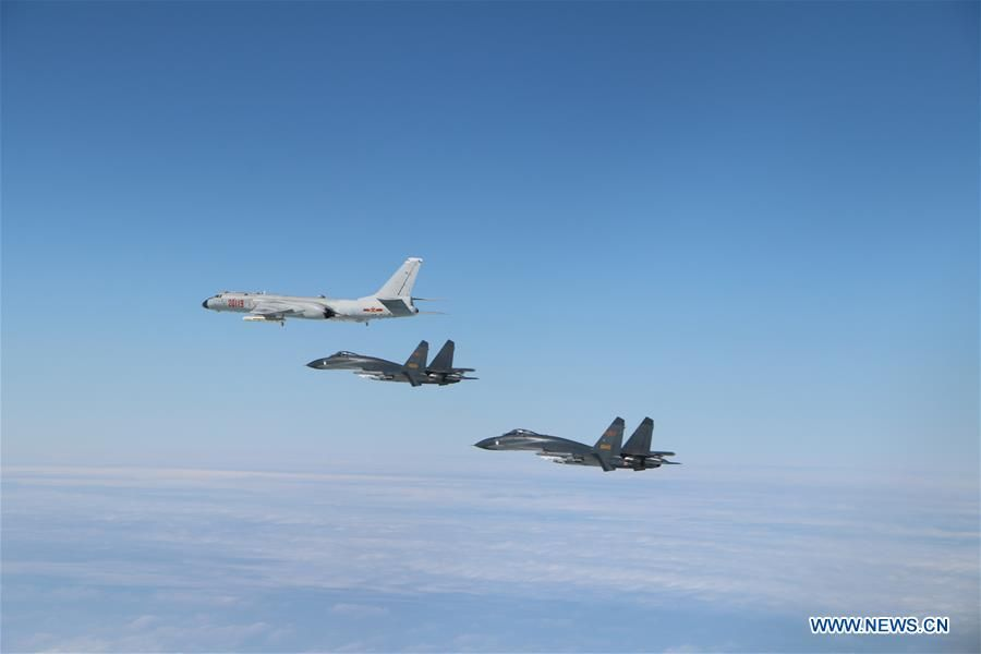 Aircraft of Chinese #PLA air force take part in a regular #patrol exercise on Monday, passing the #Bashi Channel and #Miyako Strait. The formation consisted of H-6K bombers, Su-30 and J-11 fighters, reconnaissance #aircraft