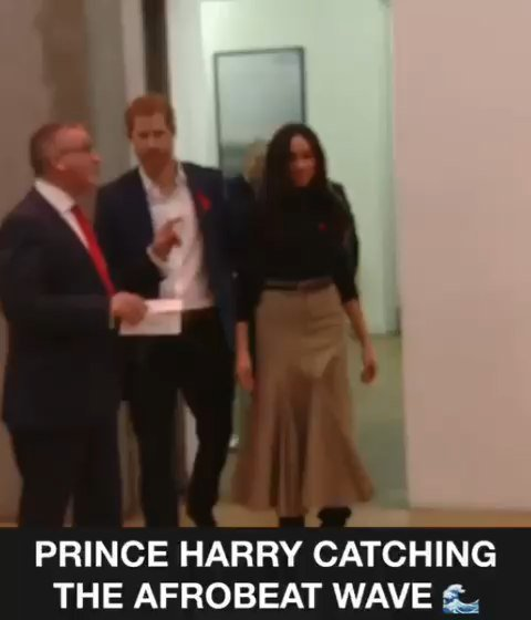 PRINCE HARRY IS FEELING THE AFROBEATS SM...
