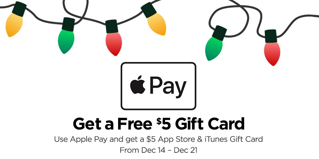 Jcpenney On Twitter Attn Get A Free 5 App Itunes Gift Card For Using Apple Pay Your
