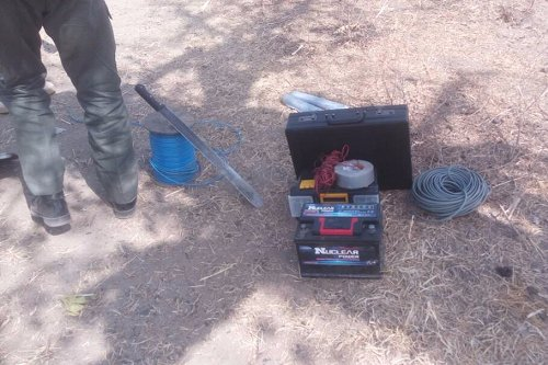 Men of police Explosive Ordinance Device unit (EOD) in Adamawa State exploded a UXO high Bomb found around the villages attacked by Fulani herdsmen.