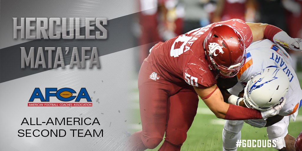 One final All-America honor for Consensus All-American Hercules Mata'afa! #GoCougs