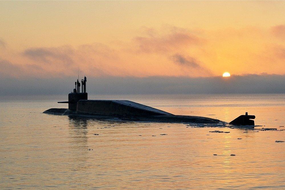 Атомный ракетный подводный крейсер стратегического назначения «Тула» в Баренцевом море #ВМФ #СФ