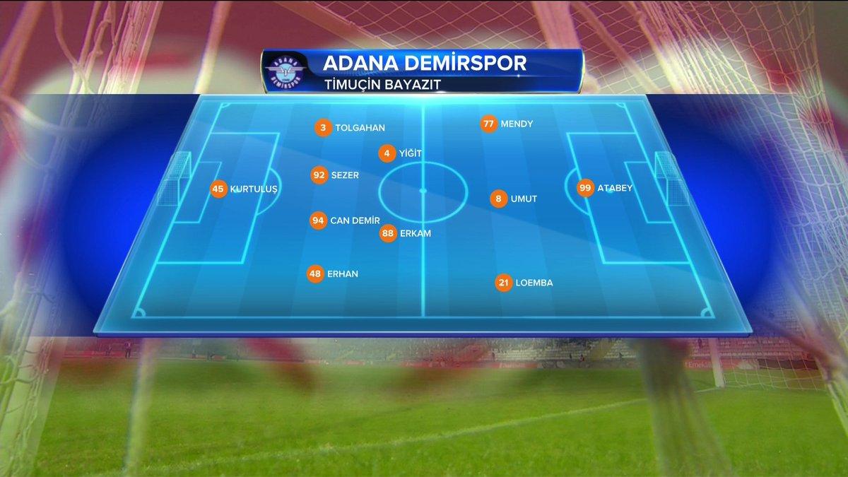 #AdanaDemirspor ilk 11'i; https://t.co/3...
