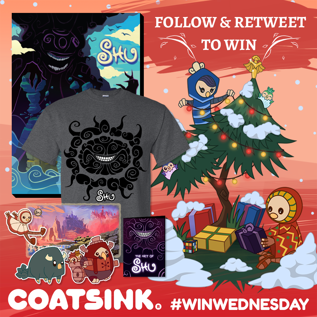 Coatsink on twitter our holiday season winwednesday is on win a one of a kind shugame canvas and a shu box of merch shu box canvas world map tshirt art book sticker set coatsink lanyard ends friday 22 gumiabroncs Choice Image