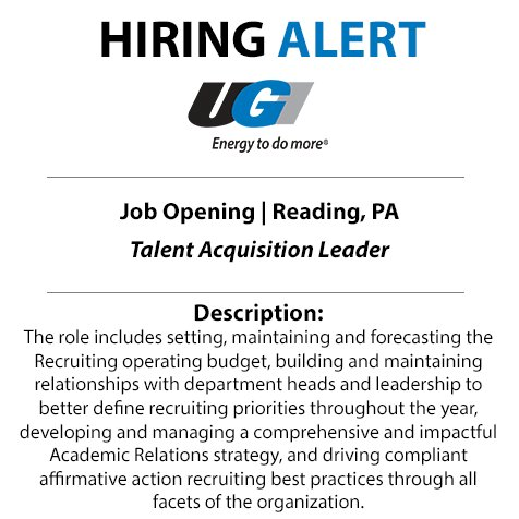 test Twitter Media - Take your career to the next level with UGI. We're searching for a Talent Acquisition Leader to join our team in Reading. Start your application today: https://t.co/VICUsfcHIa https://t.co/Jz8sa8NYMG