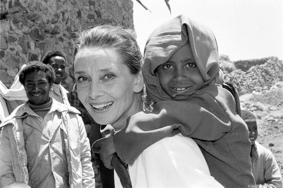 """As you grow older, you will discover that you have two hands, one for helping yourself, the other for helping others."" Audrey Hepburn, UNICEF Goodwill Ambassador. #ForEveryChild"