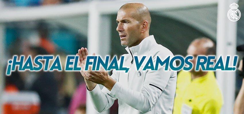 ⏱2⃣✅ #RMCWC The second half has started.  🙌 HASTA EL FINAL, VAMOS REAL 🙌  @AlJazira_uae 1-0 #RealMadrid  #HalaMadrid