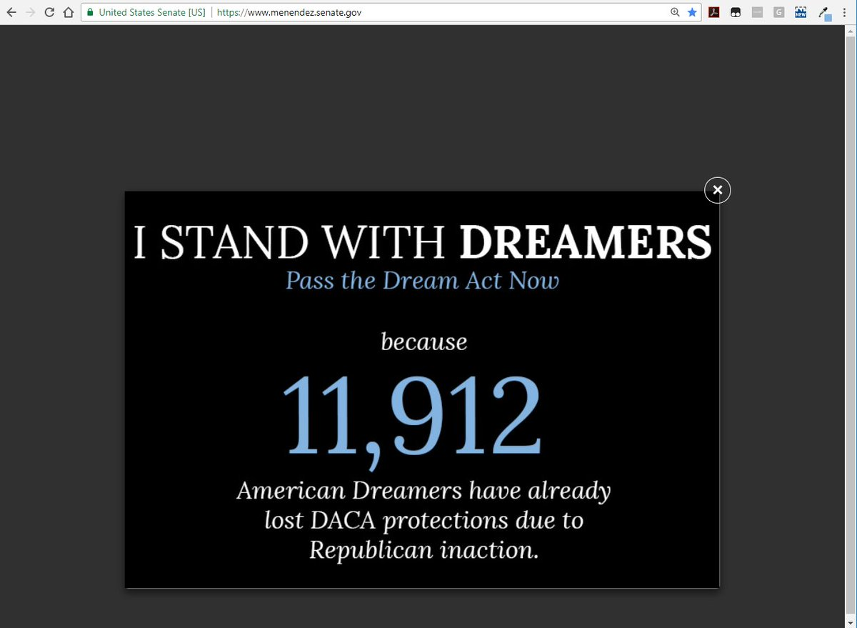 Why is this the homepage image on my website?  Because the lives of young #AmericanDreamers are not invisible even if Republicans have forced them back into the shadows to languish. Time is not on our side. Join me in calling on GOP to pass the #DreamActNow. #AmericanDreamer