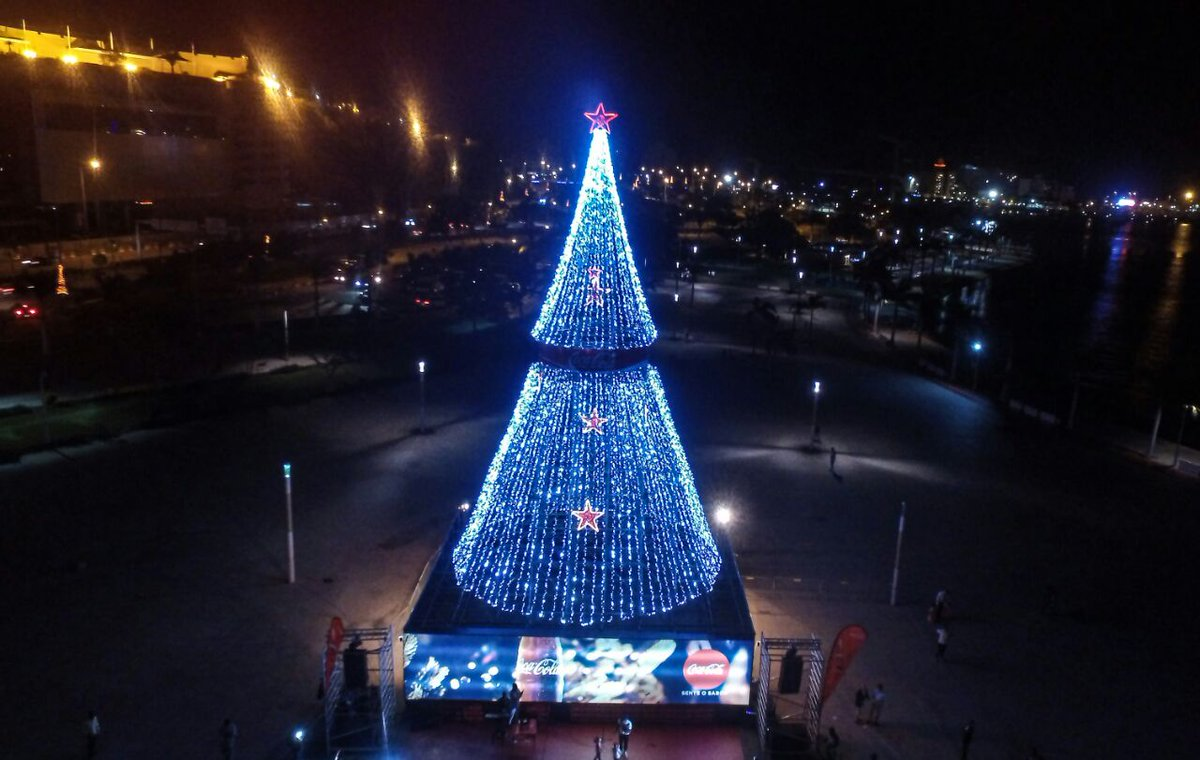 a b p ministries on twitter inaugural lighting of angolas largest christmas tree luanda africa photo yetwene httpstco0oyc9tuulr - Largest Christmas Tree