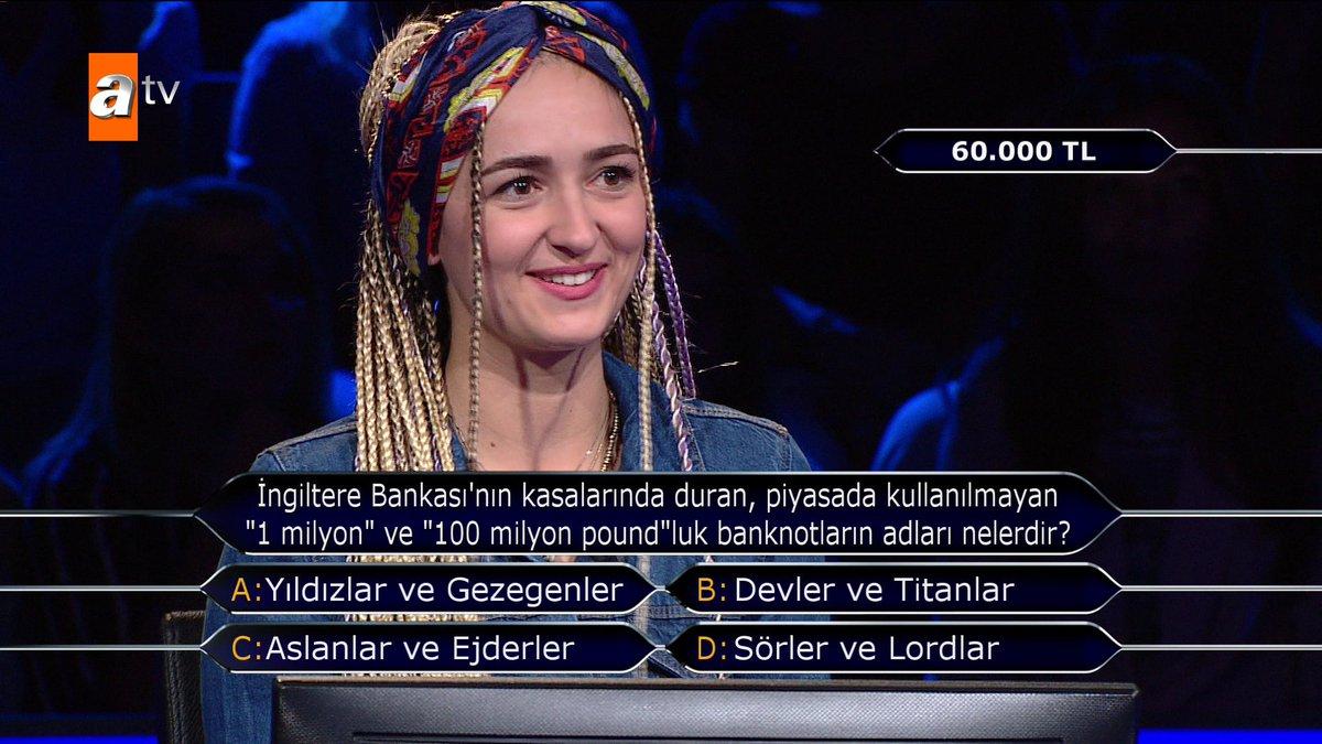 Ebru Çelik, 60.000 TL değerindeki soruya...