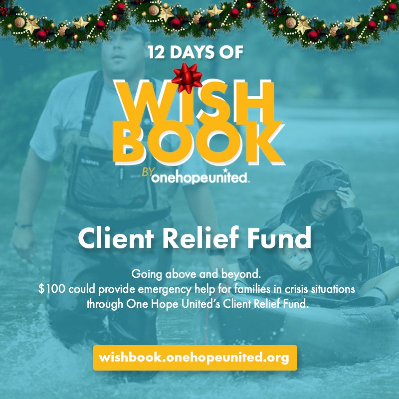 test Twitter Media - DAY 3 | $100 could provide emergency help for families in crisis situations through One Hope United's Client Relief Fund.  So far, your generosity has allowed us to raise nearly $5,000 for the Client Relief Fund!  Support a family in crisis today: https://t.co/neE4hAmoLv https://t.co/5OHQNzpRE5