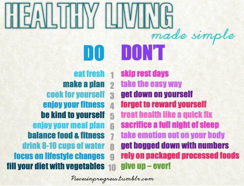 Follow this if you want to live healthy...