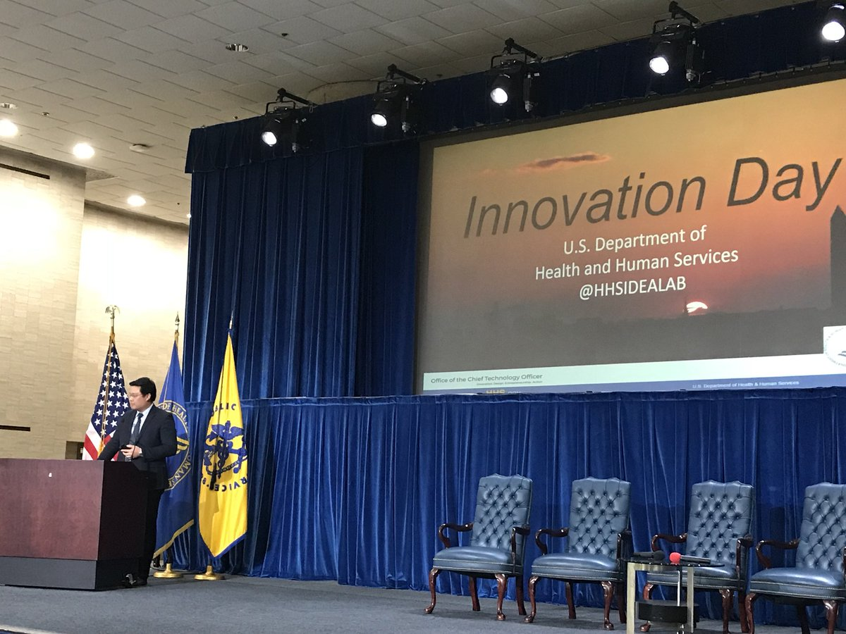 HHS IDEA Lab's, Will Yang, introduces the capstone presentations from the Data Science CoLab #HHSinnovation
