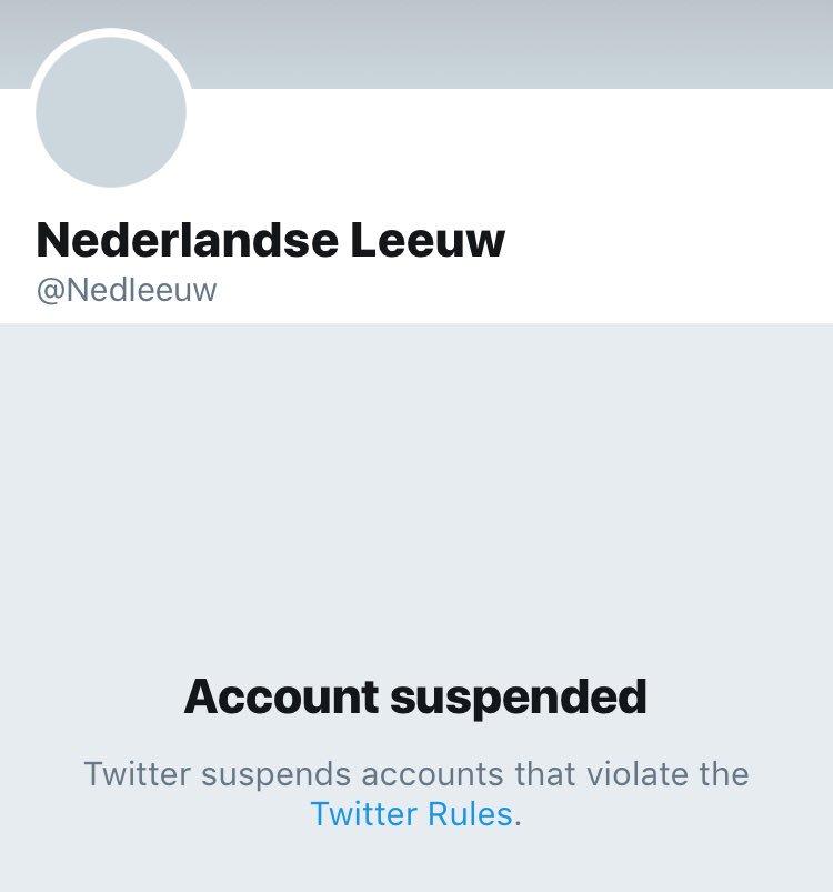 En het is opgelost: account suspended. https://t.co/FTZ3xQUa9n