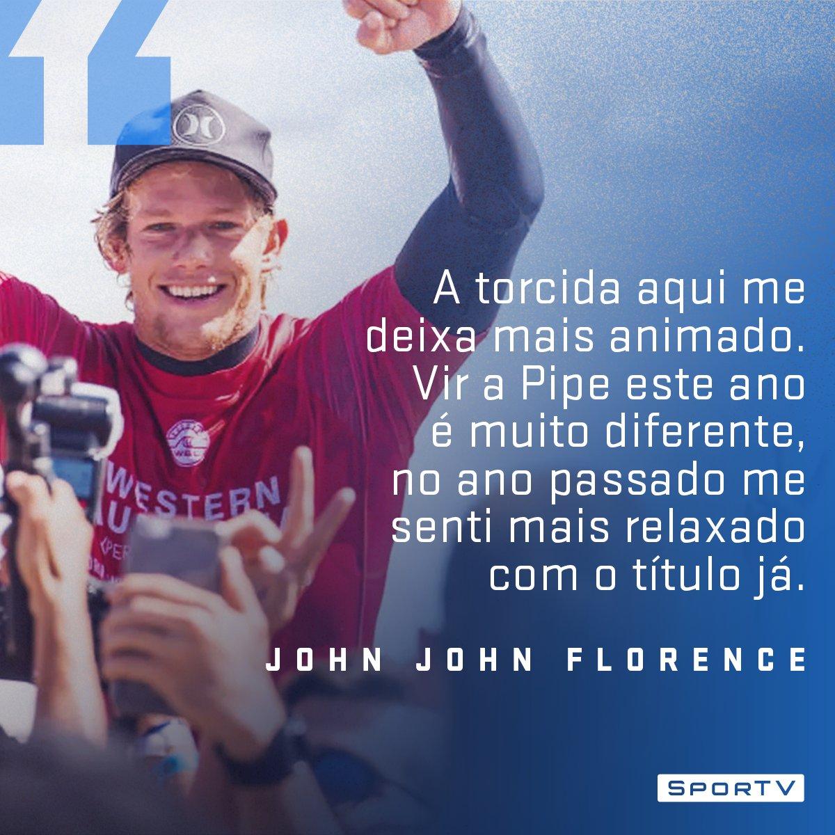 Em casa e com apoio da torcida, vai ser difícil tirar esse título de John John!  Curta as emoções da última etapa da WSL, ao vivo, no https://t.co/0QCBGRtNwC! #SurfeNoSporTV