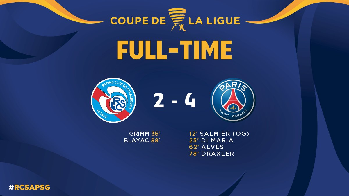Round of 16 - @RCSA vs. @PSG_English - Final Whistle