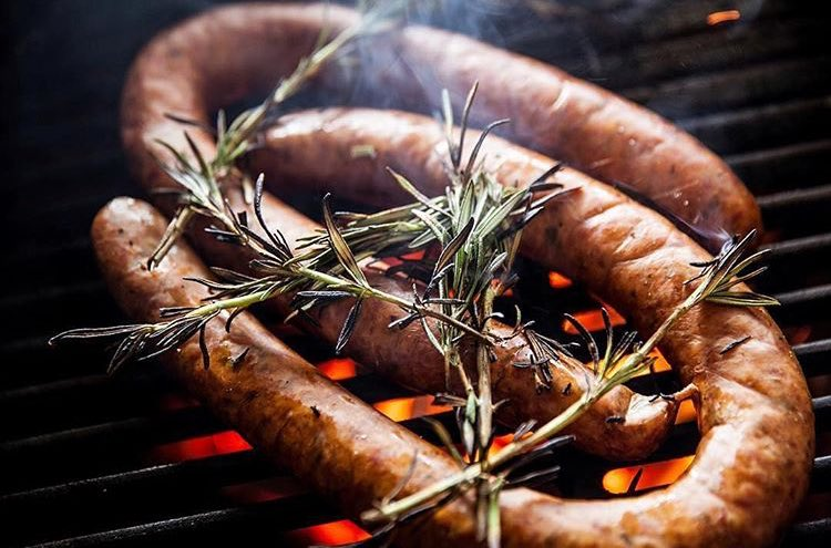 By @royaloakcharcoal #Sponsor555 Adding something a little extra on top your smoked sausage adds even more authentic flavor, in addition to your lump charcoal!