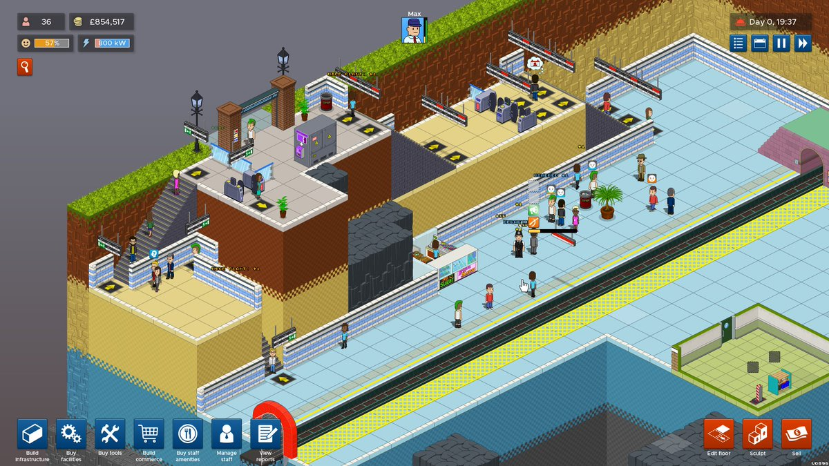 3 Floor Station, Viewed From 2 (of Possible 4) Fixed Angles #gamemaker  #indiegame #indiegamedev #gamedev #indiegames  #pixelartpic.twitter.com/01tVCQ6MHs