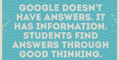 Inquiry is not just searching for a right answer. It&#39;s thinking in ways that lead to understanding. #edchat #edtech #FutureDriven <br>http://pic.twitter.com/lr1cTPsxpJ