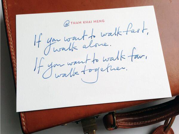 'If you want to walk far, walk together.'   #WednesdayWisdom #socent #csr #GivingTuesday RT @SocialSola
