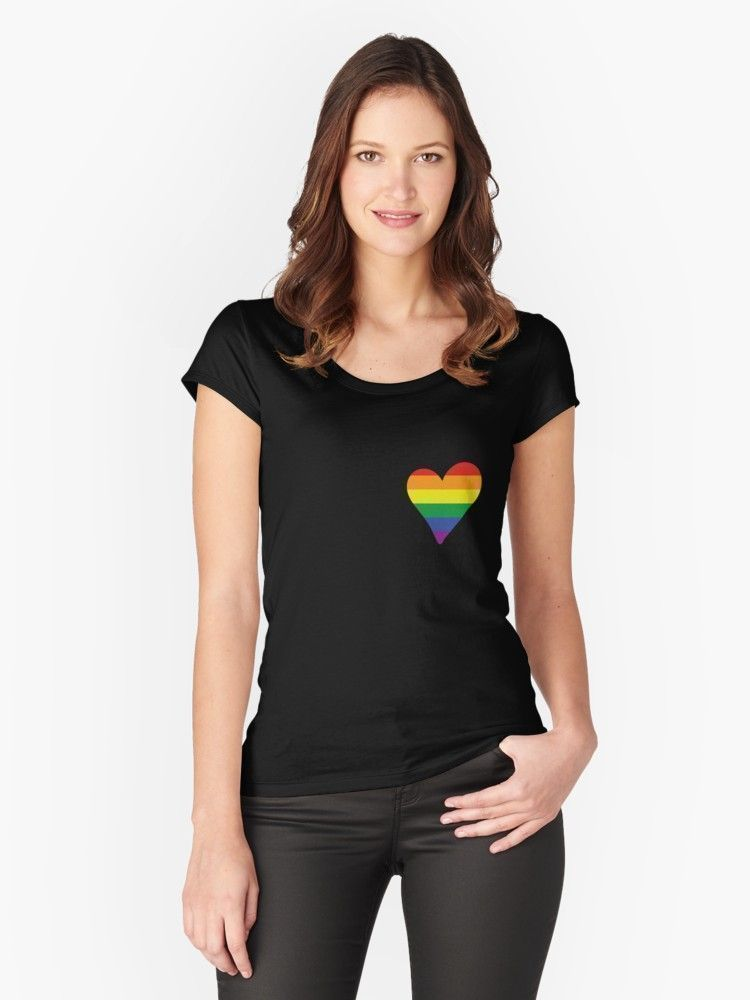 'LGBT Gay Pride Heart' T-Shirt by broadm...