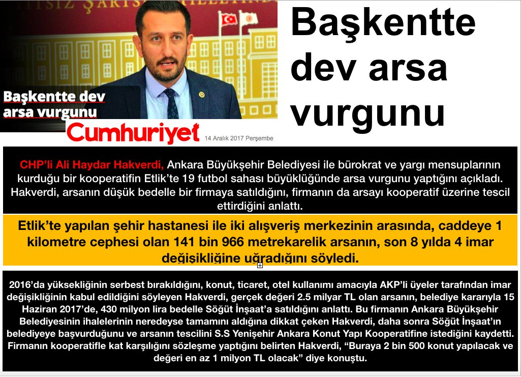 #CHP'li #AliHaydarHakverdi ;  #BAŞKENTTE...