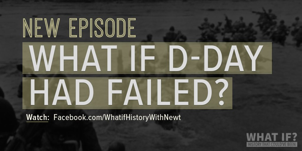 There are many factors that could've changed the outcome of D-Day. In this wk's episode of my 'What If?' history FB show, I look at what could've happened if the Allies had failed. Watch and follow show: https://t.co/qDSoz850Gn