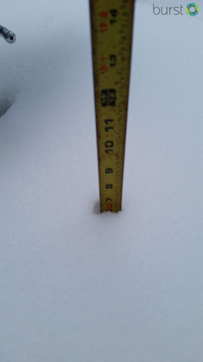 Megan Williams sent this photo us from Harrison, MI. She measured the #snow at about 7 inches at around 4:30 p.m.