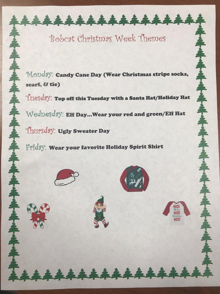 Christmas Spirit Week Ideas For Work.Ehs Seniors On Twitter Christmas Week Themes For Next Week