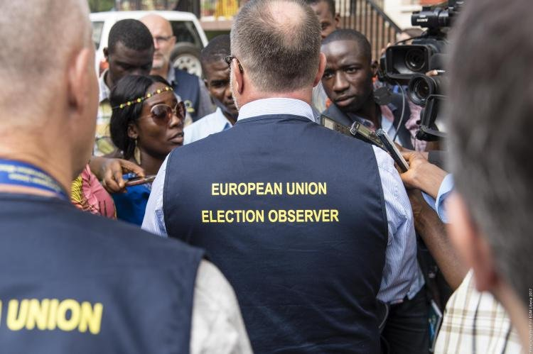 #Liberiadecide Ahead of the conduct of Liberia's runoff election on December 26, between Soccer icon #George Weah of the CDC and Vice President #Joseph Boakai of the UP, the European Union, EU EOM team has deploy 20 Election Observers in Liberia.pic.twitter.com/acSrBHmkMF