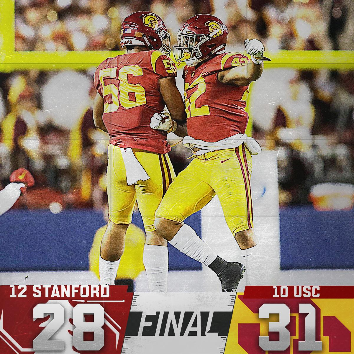 Fight on!   USC takes down Stanford to win the Pac-12 championship game.
