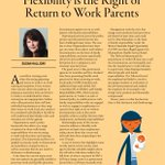 Flexibility is the right of return to work parents. Susan Halliday writes about parenting and returning to work for #SurgicalNews  (pages 26-27). https://t.co/R2BUyZqL37
