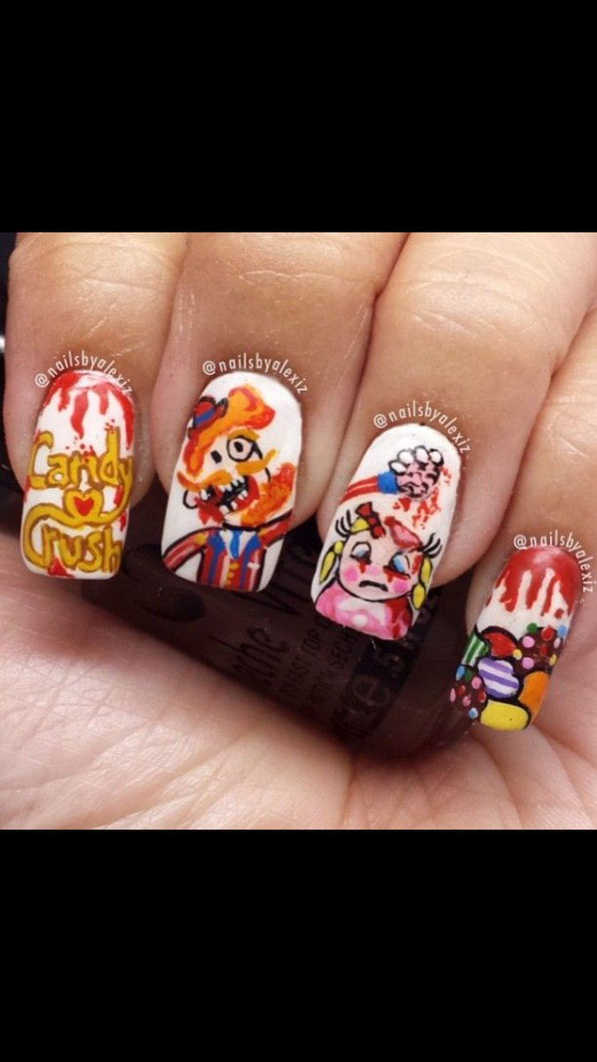 Madison Griffin On Twitter This Is The Weirdest Candy Crush Nail