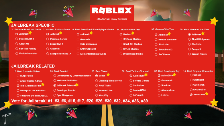 Jailbreak codes roblox