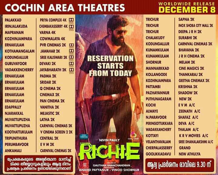 richie kerala theatres list