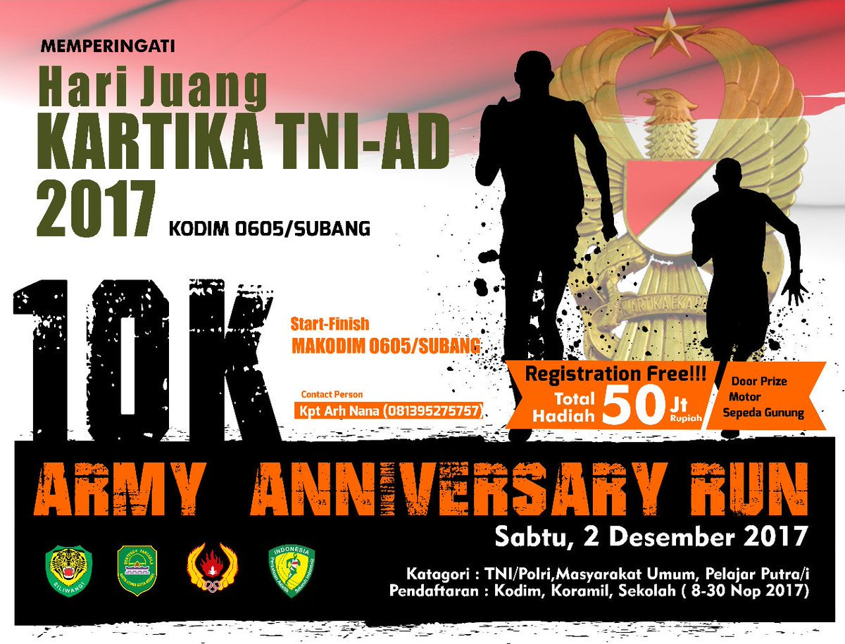 Army Anniversary Run • 2017
