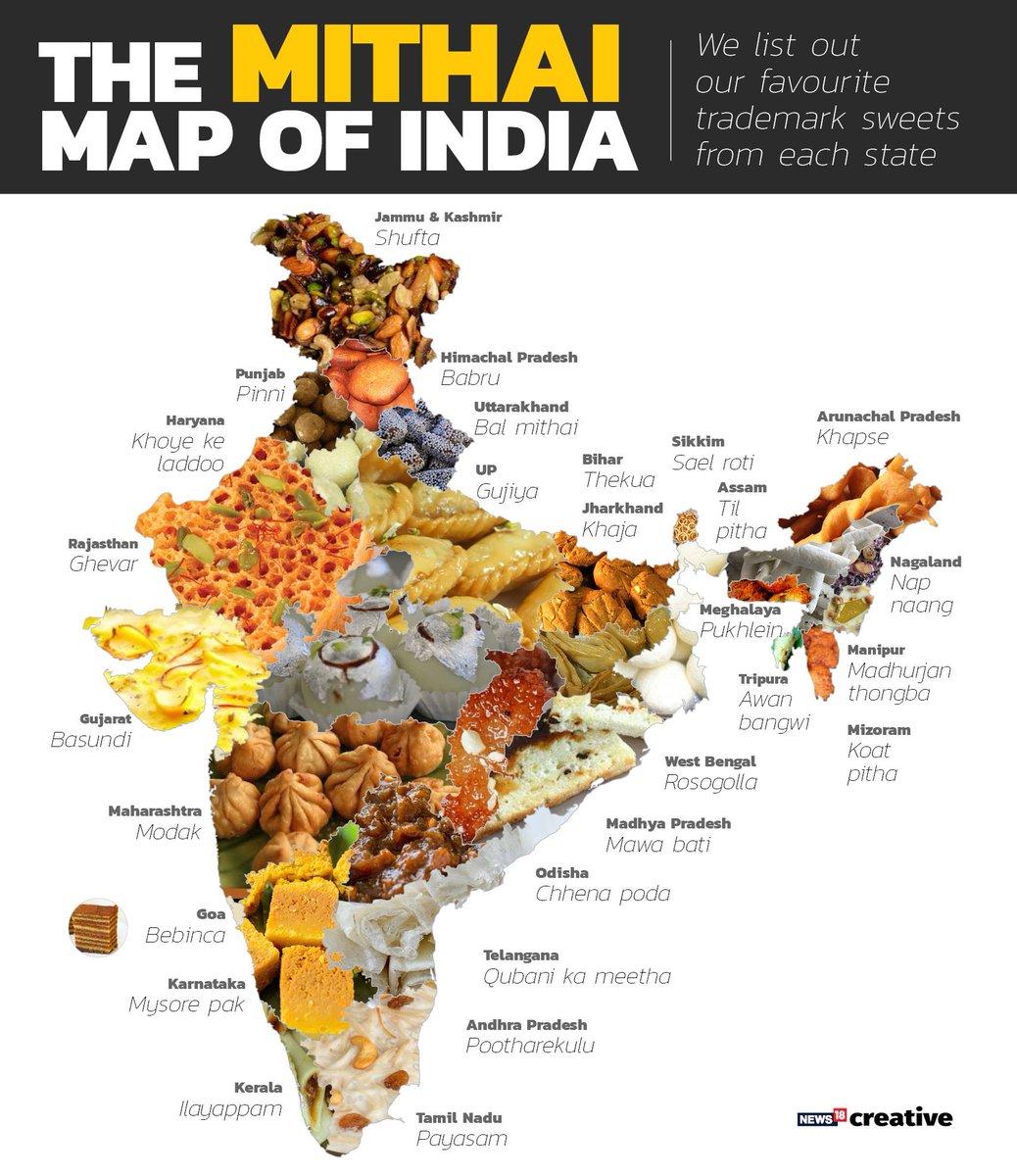 Nandita Iyer On Twitter How Sweet This Mithai Map Of India Via