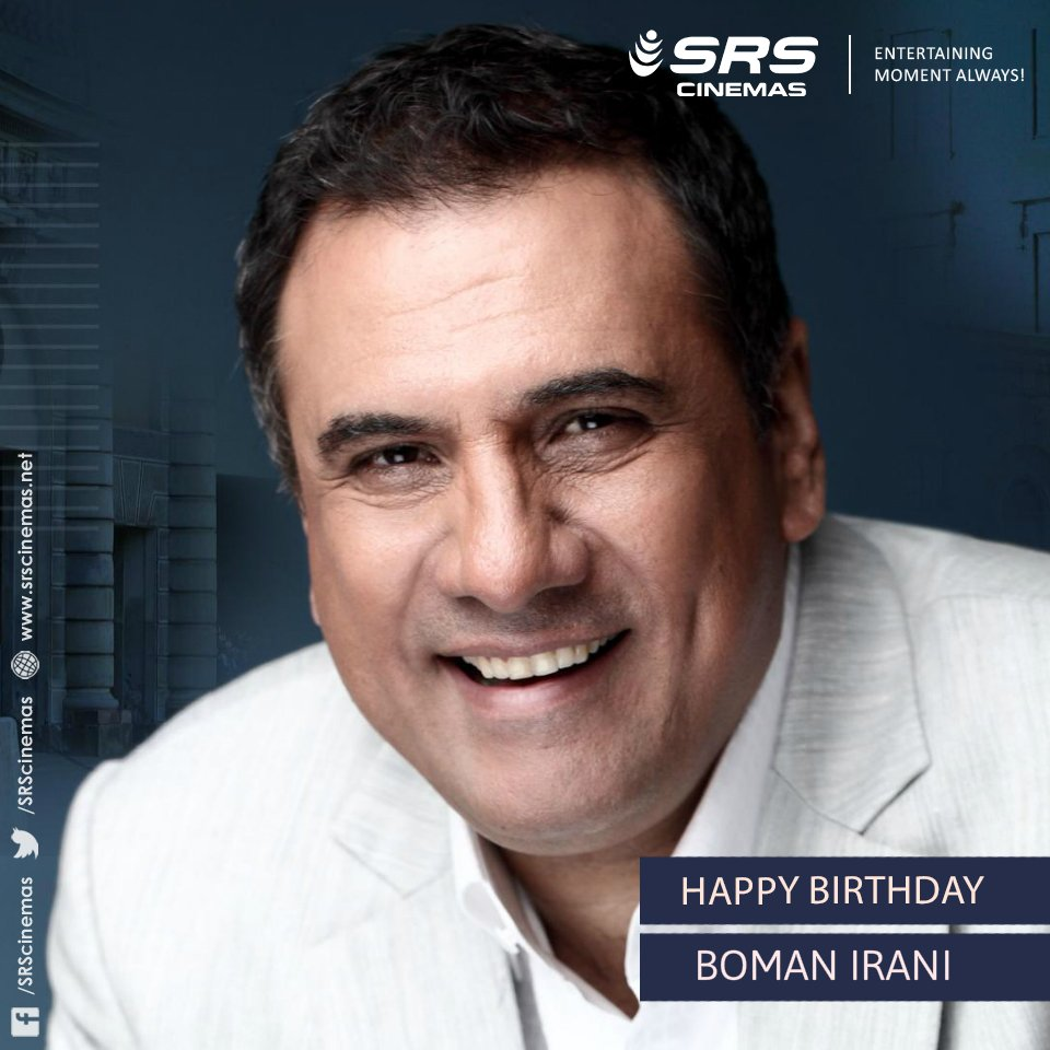 Wishing one of the finest comedic actors, Boman Irani, a very happy birthday!