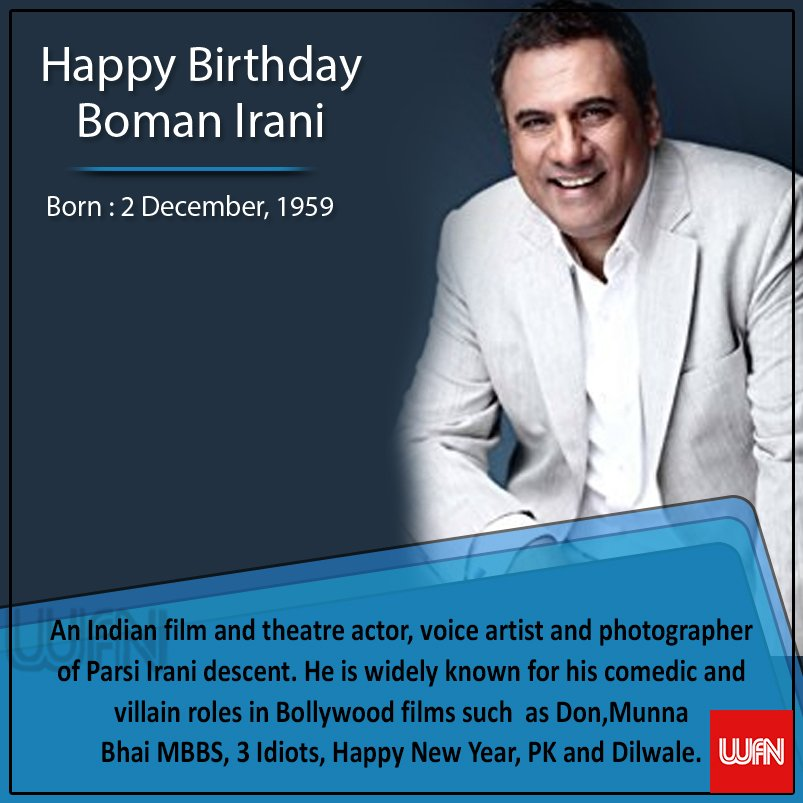 Wish you a very happy birthday Boman Irani