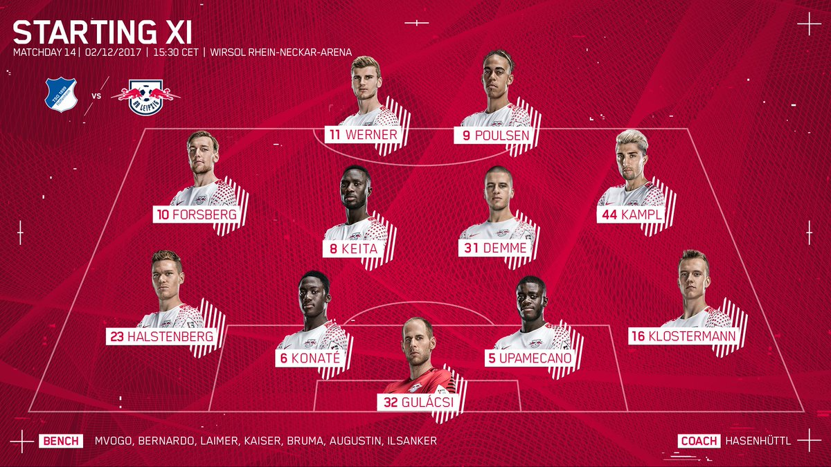Rb Leipzig English On Twitter The Team News Is In And Just The One Change As Konate Replaces Orban At Cb Time To Pile Further Misery On Achtzehn99 En Let S