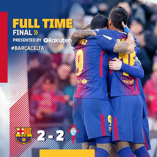 Chấm điểm trận Barcelona 2-2 Celta Vigo