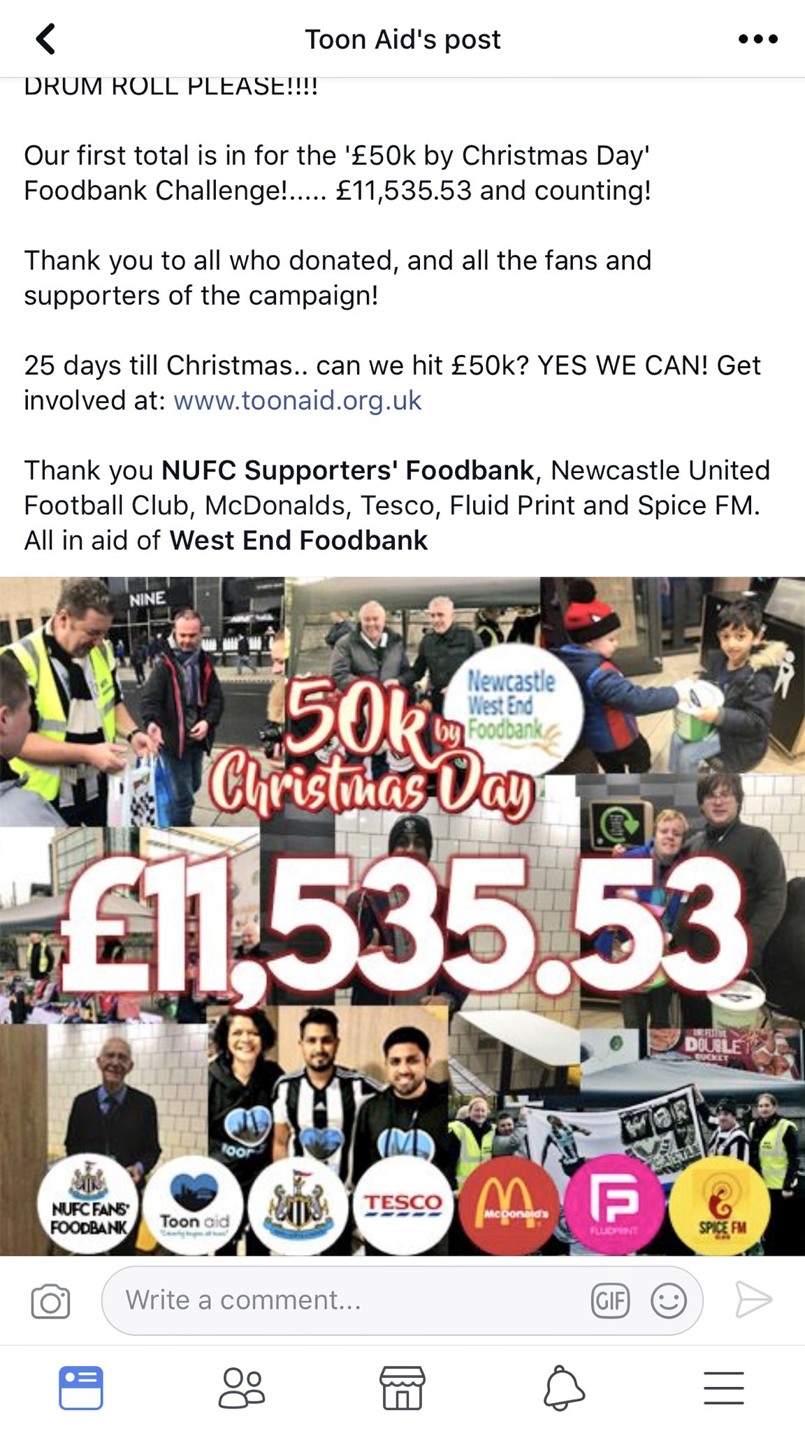 NUFC Fans Food Bank on Twitter: \